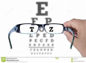 Eye Chart Glasses Spectacles Test Vision Stock Image