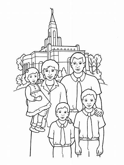 Temple Coloring Lds Pages Primary Temples Happy