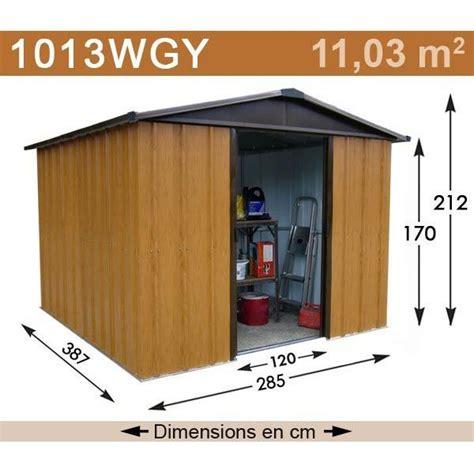 abri m 233 tal aspect bois 11 03 m2 yardmaster kit d ancrage inclus trigano store