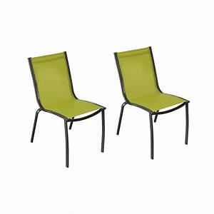 Chaise Suspendue Jardin : chaise de jardin santa rosa vert anis lot de2 choisissez nos chaises de jardin santa rosa ~ Teatrodelosmanantiales.com Idées de Décoration
