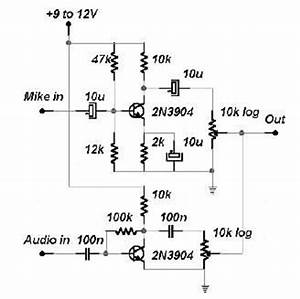 top circuits page 841 nextgr With discrete transistors audio mixer