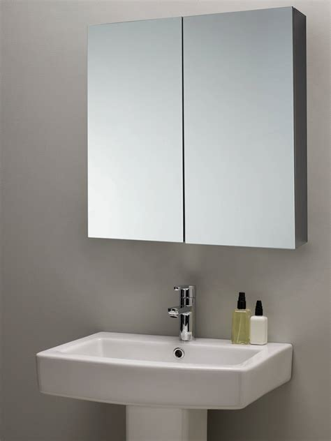 Silver Bathroom Cabinet by Lewis Partners Mirrored Bathroom Cabinet