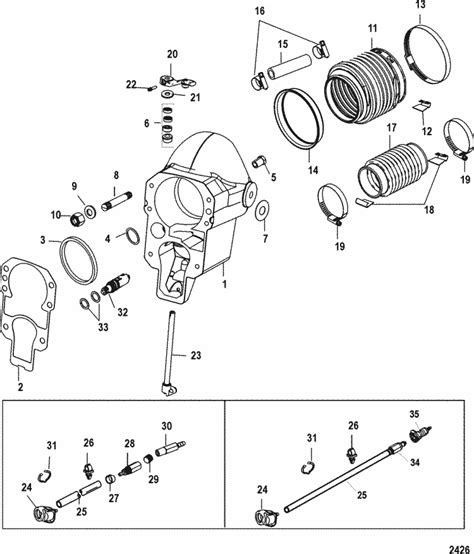 mercruiser alpha  gen ii   bell housing parts