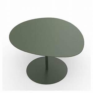 Table Basse Forme Galet : table basse acier alu 3 galets mati re grise ~ Teatrodelosmanantiales.com Idées de Décoration