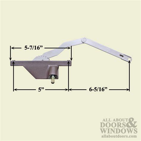 hand    rear face mounted dyad casement operator  window choose color
