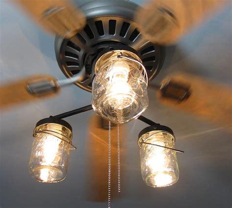 Vintage Canning Jar Ceiling Fan Light Kit By Lgoods On Etsy