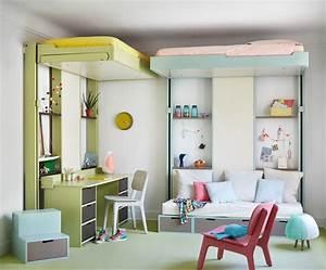 Chambre Gain De Place : chambre d 39 enfants gain de place chambre d 39 enfant paris par espace loggia ~ Farleysfitness.com Idées de Décoration