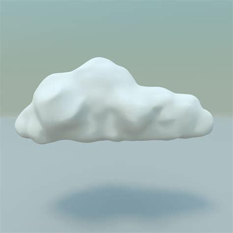 3d model cartoon style cloud background