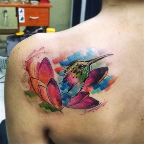 hummingbird cover up tattoo 80 best watercolor hummingbird tattoo meaning and