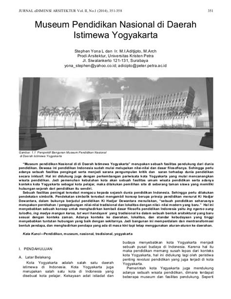 jurnal arsitektur