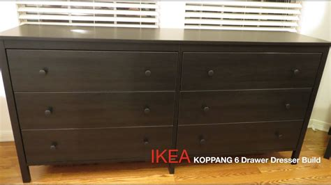 brown bedroom ideas ikea koppang brown 6 drawer dresser assembly