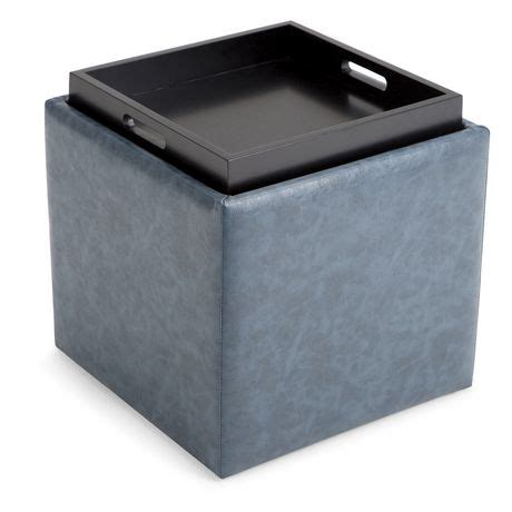 cube ottoman with tray townsend cube storage ottoman with tray walmart canada