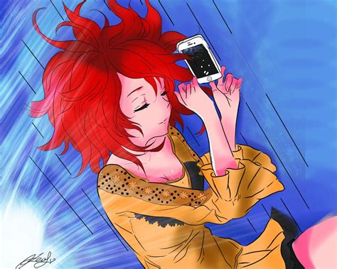 anime for phone anime sleeping with phone by neko1341 on deviantart