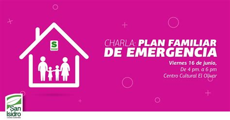 plan de emergencias familiar charla plan familiar de emergencias municipalidad de