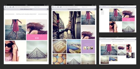 portfolio layout bee wordpress theme