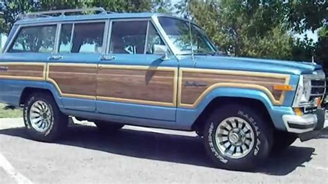 jeep wagoneer blue rare 1987 jeep grand wagoneer hard to find spinnaker blue