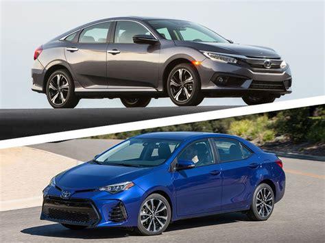 Toyota Vs Honda by 2017 Honda Civic Vs 2017 Toyota Corolla Which Is Best