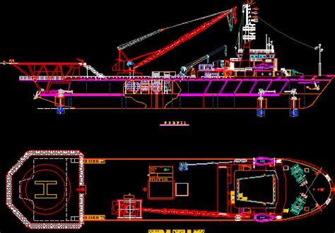 boat crane dwg plan  autocad designs cad
