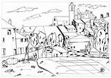 Coloring Village Cezanne Paul Valentin Winter Painting Adults Children Justcolor Printable Adult Cézanne Inspired Gardanne Getcolorings Masterpieces Simple sketch template
