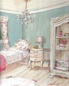 Shabby Chic Guest Room Painting By Gail McCormack - Modern ...