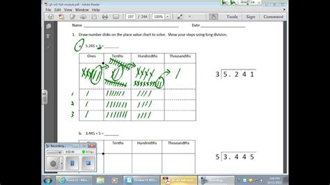 october  math module  lesson  division  decimals