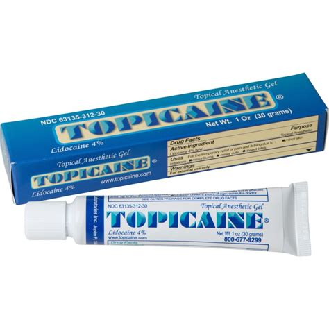 topicaine  oz   skin numbing topical anesthetic gel