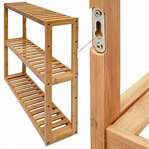 Holz Für Feuchträume : dunedesign wandregal 54x60x15cm bambus bad regal 3 f cher holz ablage badezimmer h ngeregal ~ Markanthonyermac.com Haus und Dekorationen