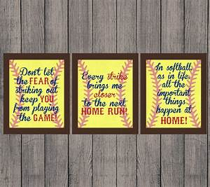 Softball Quotes Softball Gift INSTANT DOWNLOAD High School