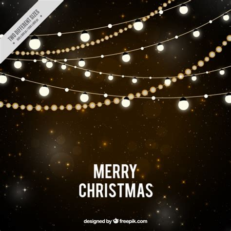 night stars christmas lights starry night background with christmas lights vector