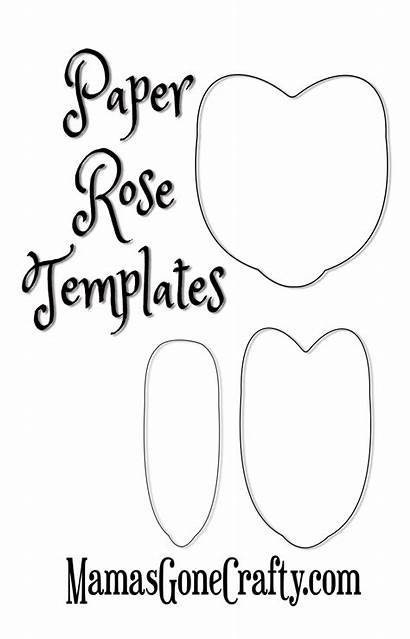 Rose Paper Templates Printable Petal Roses Crepe