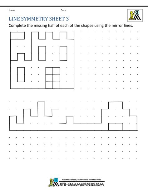shape symmetry worksheet year 3 geometry shape maths