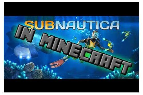 subnautica minecraft mod