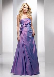 elegant a line strapless long lavender purple wedding With purple wedding guest dress