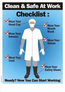 Safety Poster- Clean And Safe At Work (Food Processing ...