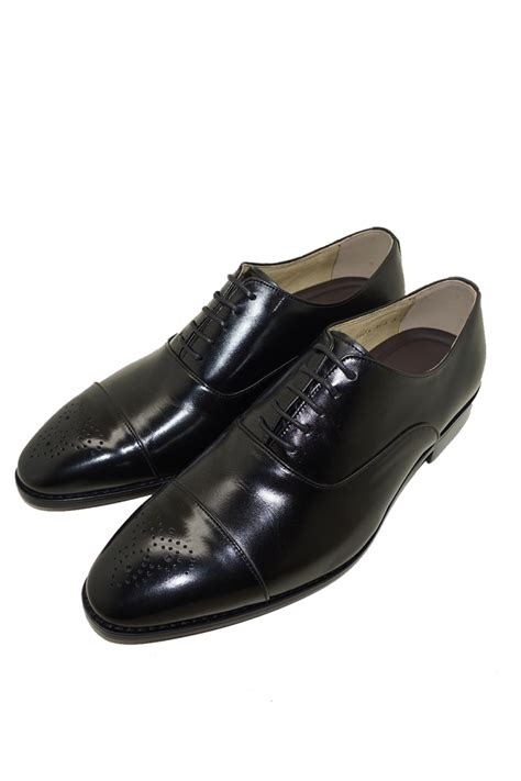 Cowhide Leather Shoes by Black Genuine Cowhide Leather Lace Up Oxfords Shoes Dress Mens