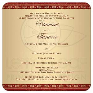 Engagement Party Invitation Hindu Ganesh Red, Gold