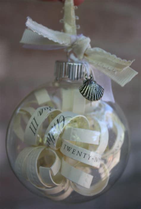 wedding invitation ornament