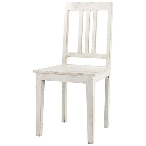 chaise en manguier blanche effet vieilli avignon maisons