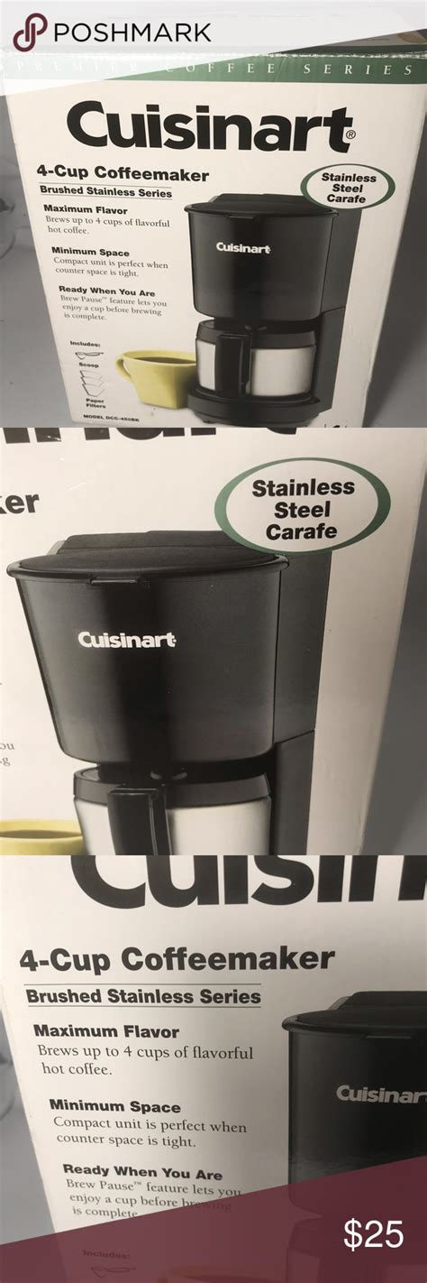Many coffee makers come with scoops that are equal to one tablespoon, but the aeropress, for example, comes with a scoop that is about 2 how much coffee for aeropress? Cusinart 4 Cup Coffee maker Cuisinart DCC450BK 4-Cup Black Coffee Maker with Stainless-Steel ...