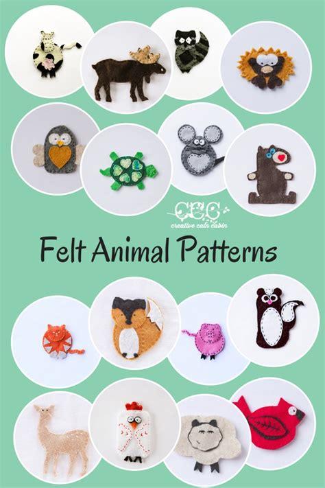 felt animal templates images felt animal patterns