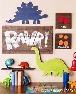 This darling dino decor is perfect for any little explorer for Boys room dinosaur decor ideas