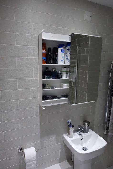 The bathroom cabinet was purchased from ikea (Brickan