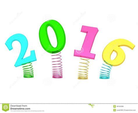 2016 numbers stock illustration image 48184086