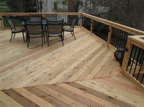 deck rail ideas   cedar deck st louis decks