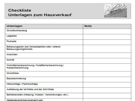 Fragen Beim Hauskauf Checkliste by Checkliste Hausverkauf Unterlagen Sb Immobilien