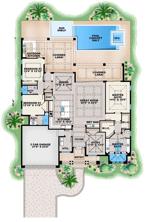 contemporary one house plans contemporary house plan 175 1134 3 bedrm 2684 sq ft