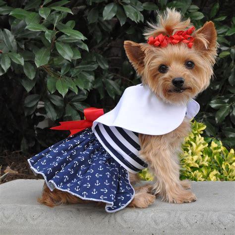 nautical dog dress  matching leash  dog baxterboo