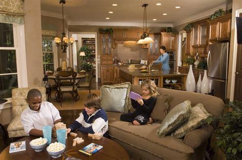 kitchen family room floor plans open pictures 2017 plan