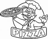 Pizza Coloring Pages Hut Drawing Printable Restaurant Slice Cartoon Preschool Line Sheet Pepperoni Steve Getdrawings Chef Getcolorings Children Draw Drawings sketch template