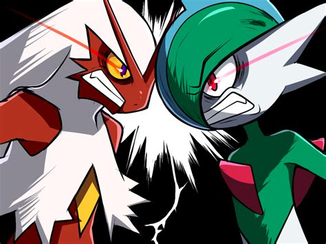 blaziken  gallade   gardevoir pokemon art